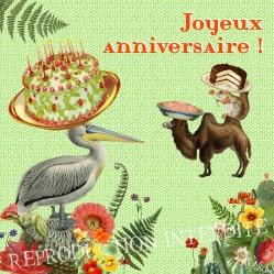 Carte Anniversaire 1 (Editions Côté Bord'eau)