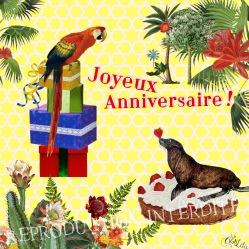 Carte Anniversaire 2 (Editions Côté Bord'eau)