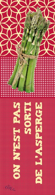 Marque-pages Proverbe Asperge