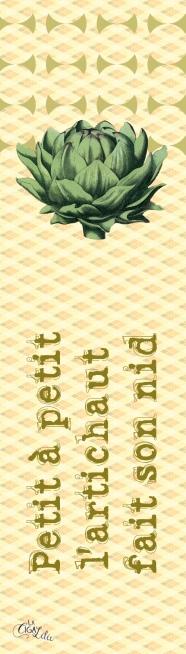 Marque-pages Proverbe Artichaut