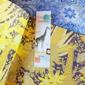 Marque-pages Haïku Girafe
