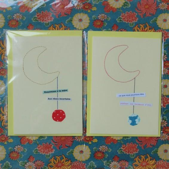 Cartes poétiques Lune